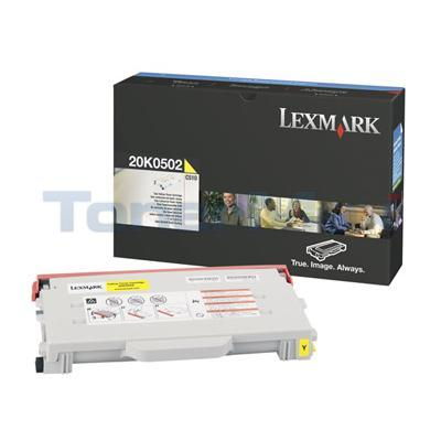 LEXMARK C510 TONER CART YELLOW 3K